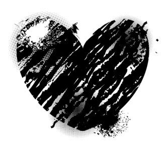 Vector Grunge Heart Valentine Illustration Vector Illustrations vector