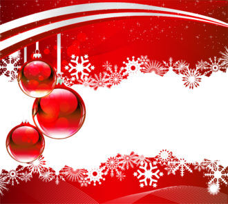 Vector Christmas Greeting Card Vector Illustrations wave