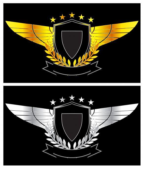 Gold And Silver Vintage Emblem Vector Illustration Vector Illustrations old