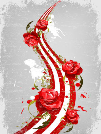 Vector Valentine Illustration With Roses Vector Illustrations wave