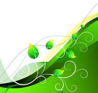 Green Floral Background Vector Illustration Vector Illustrations wave