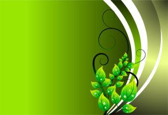 Green Floral Background Vector Illustration Vector Illustrations floral