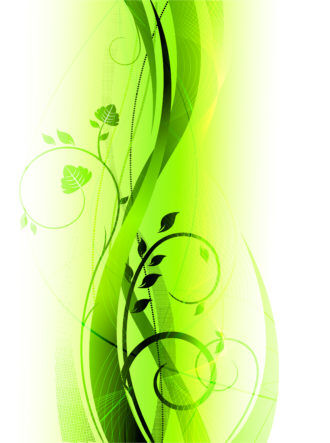 Green Abstract Background Vector Illustration Vector Illustrations floral