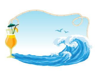 Vector Summer Frame With Waves Vector Illustrations wave