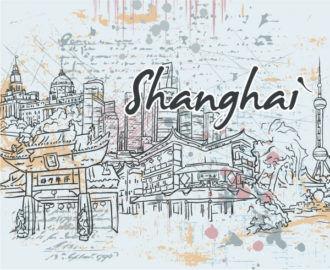 Shanghai Doodles Vector Illustration Vector Illustrations tree