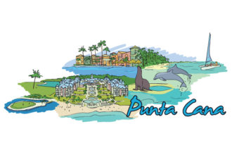 Punta Cana Doodles Vector Illustration Vector Illustrations palm