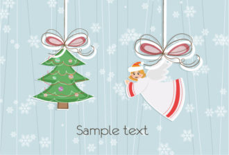 Angel With Tree Vector Illustration Vector Illustrations tree