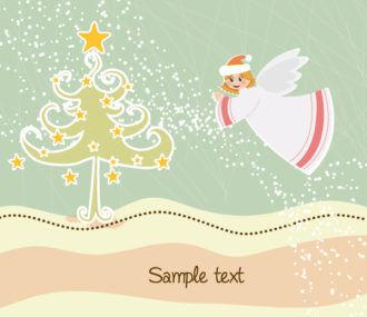 Angel With Tree Vector Illustration Vector Illustrations tree
