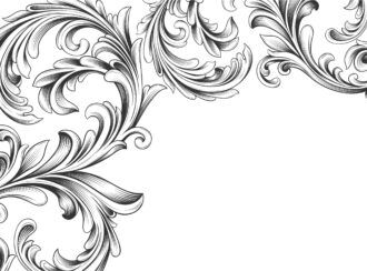 Vector Vintage Background With Engraved Floral Vector Illustrations old