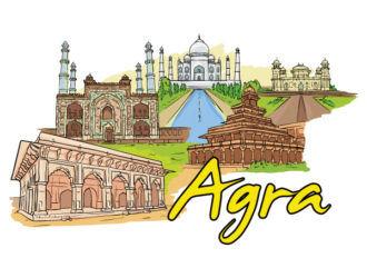 Agra Doodles Vector Illustration Vector Illustrations building