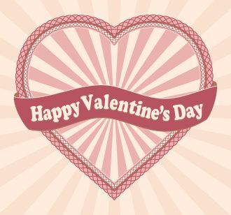Vector Valentines Background With Heart Vector Illustrations old