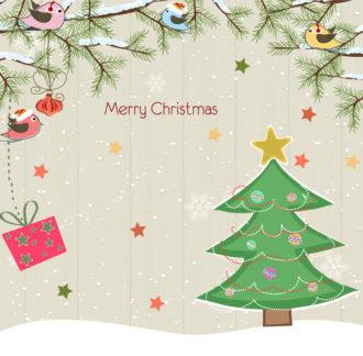 Vector Christmas Background With Tree Vector Illustrations tree