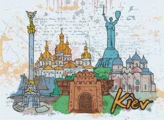 Kiev Doodles Vector Illustration Vector Illustrations building