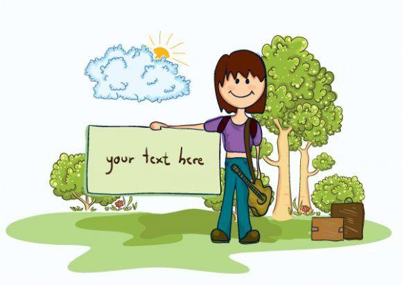 Cartoon Summer Background Vector Illustration Vector Illustrations tree