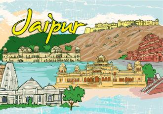 Jaipur Doodles Vector Illustration Vector Illustrations tree