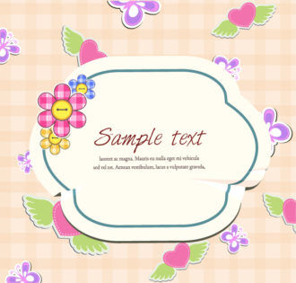 Colorful Frame Vector Illustration Vector Illustrations floral