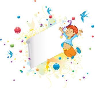 Happy Kid Vector Illustration Vector Illustrations vector