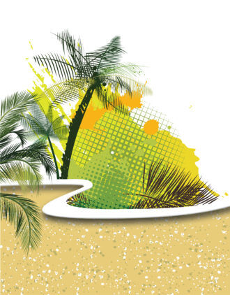 Voector Summer Background With Palm Trees Vector Illustrations palm