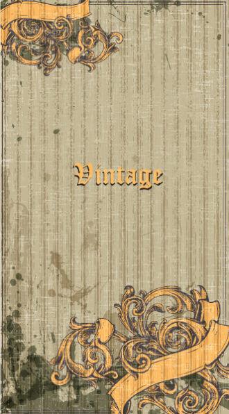 Vintage Corner Vector Illustation Vector Illustrations old