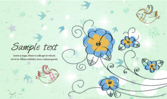 Birds With Floral Vector Illustration Vector Illustrations floral