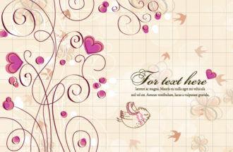Birds With Hearts Vector Illustration Vector Illustrations vector