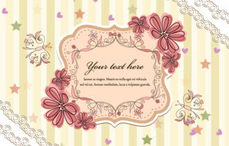 Vector Abstract Floral Frame Vector Illustrations star