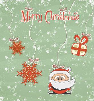 Vector Christmas Greeting Card With Santa Vector Illustrations vector