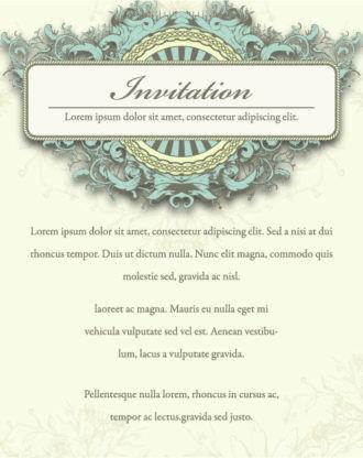Vintage Invitation Vector Illustration Vector Illustrations old