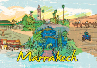 Marrakech Doodles Vector Illustration Vector Illustrations palm