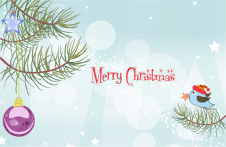 Vector Christmas Background With Bird Vector Illustrations star