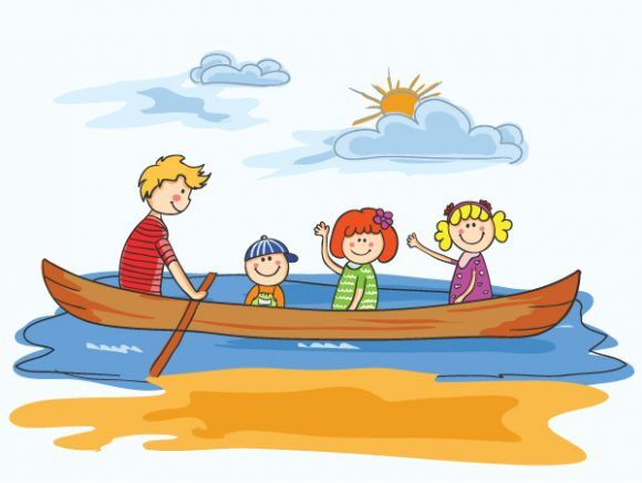Vector Cartoon Background With Family Vector Illustrations vector