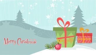 Vector Christmas Background With Presents Vector Illustrations star