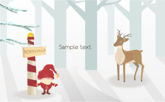 Vector Christmas Background With Santa Vector Illustrations tree