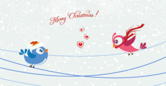 Vector Birds With Snowflakes Vector Illustrations vector