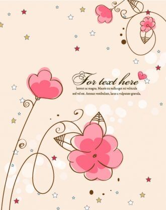 Stars With Floral Vector Illustration Vector Illustrations star