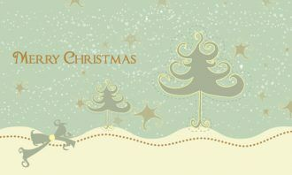 Vector Christmas Greeting Card Vector Illustrations star