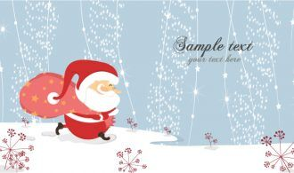 Vector Christmas Card With Santa Vector Illustrations vector