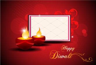 Diwali Card Vector Illustration Vector Illustrations star