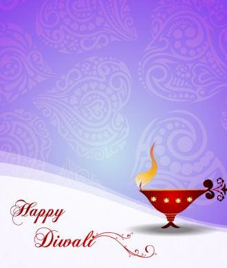 Vector Diwali Greeting Card Vector Illustrations floral