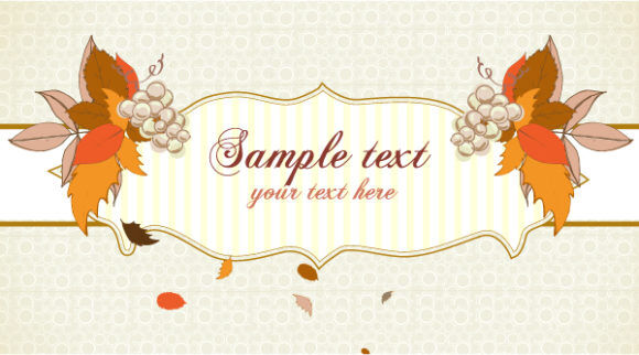 Autumn Label With Grapes Vector Illustration Vector Illustrations floral