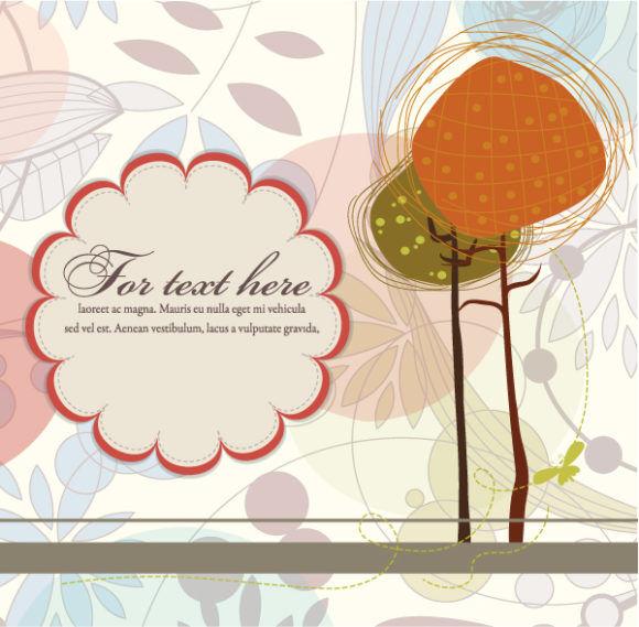 Autumn Floral Background Vector Illustration Vector Illustrations tree