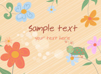 Vector Abstract Floral Background Vector Illustrations floral