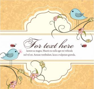 Label With Floral Vector Illustration Vector Illustrations floral