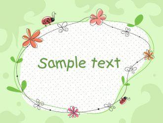 Floral Frame Vector Illustration Vector Illustrations floral