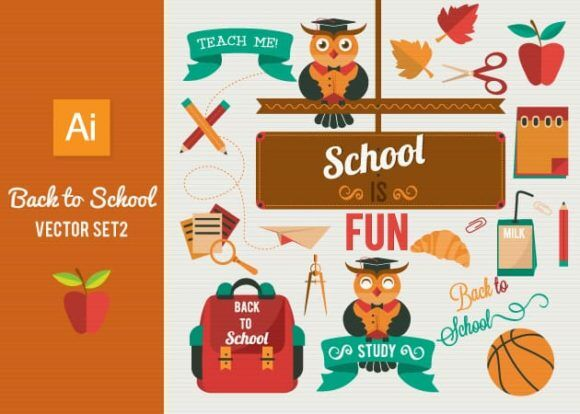 Back To School Vector Set 2 Vector packs ball