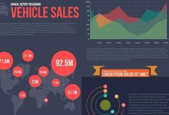 Cars Infographics Vector Set Infographics vector