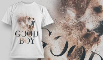 Good Boy Dog – T-Shirt Design 1406 T-shirt Designs and Templates vector