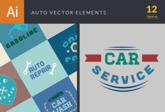 Auto Elements Vector Vector packs flat