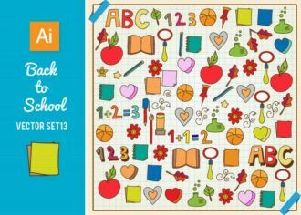 Back To School Vector Set 13 Vector packs star