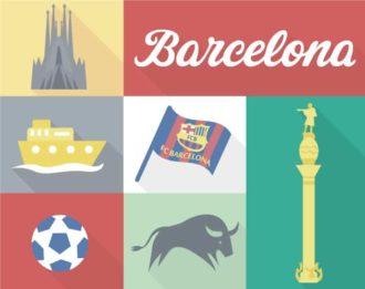 Barcelona Vector Vector packs ball